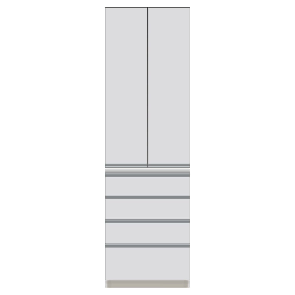 サイズが豊富な高機能シリーズ 板扉タイプ 食器棚引き出し4杯 幅60奥行50高さ198cm/パモウナ CZ-600K