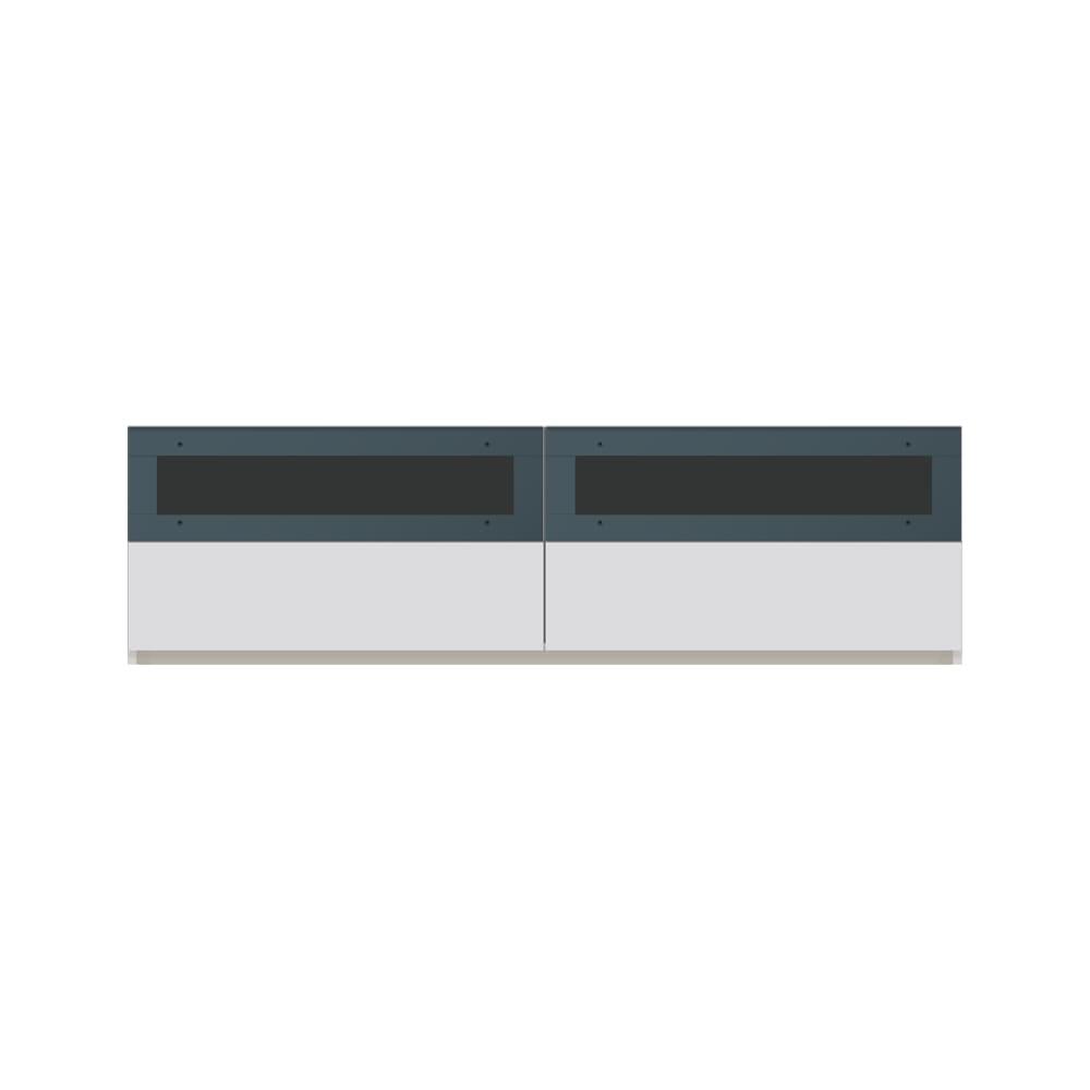 毎日の使いやすさを考えた収納システム テレビ台ロータイプ 幅160cm (ア)ホワイト