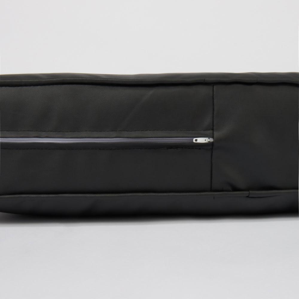 合皮シンプルモダン座布団 角型・お得な同色4枚組 サイドにファスナーがついているので床をキズつけません。