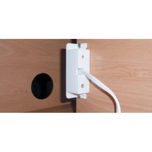 アルダー天然木ユニットボード キャスター付きテレビ台 幅106cm AV機器収納部奥には、便利な2口コンセント付き。