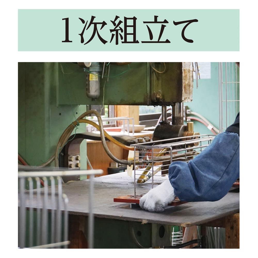 オールステンレス製シンクに渡せる水切り フッ素加工トレー付きスリムロング 金属加工の町〈新潟・燕市〉 世界トップクラスの金属加工技術