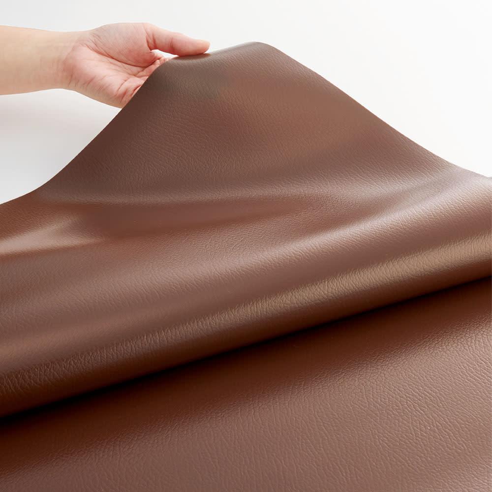 本革調テーブルマット 幅45cm・幅90cm・幅120cm (ア)ダークブラウン 大人の落ち着いた空間を演出するダークブラウン。