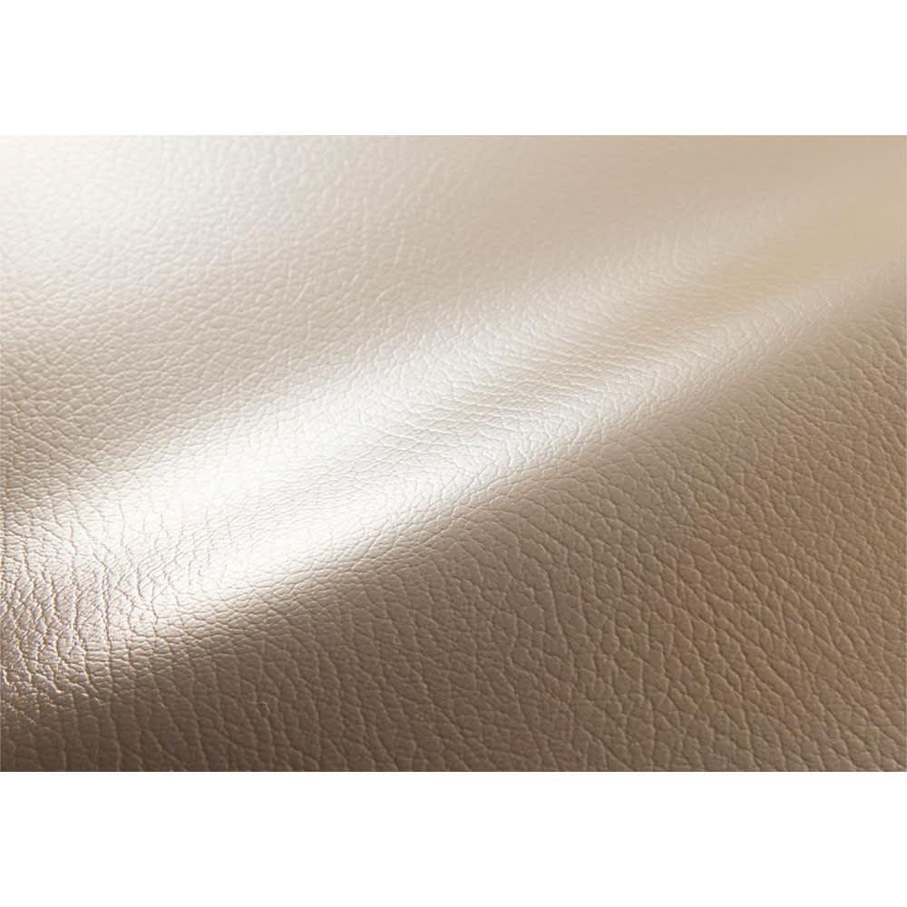 本革調チェアマット(オーダーカット)90cm幅 (イ)グレイッシュブラウン