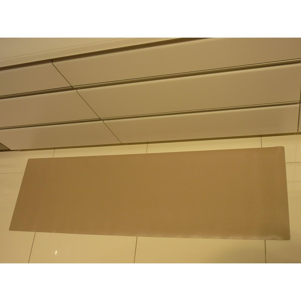 本革調キッチンマット【奥行120cm】 使用イメージ(イ)グレイッシュブラウン