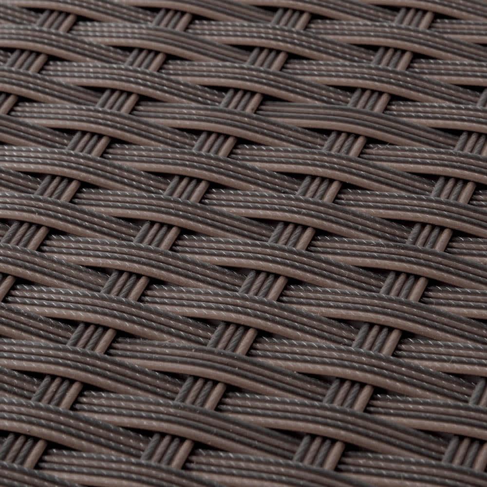 組立不要ラタン調ベンチ収納 幅60cm 植物と相性のよい、シックなラタン調のデザインです。