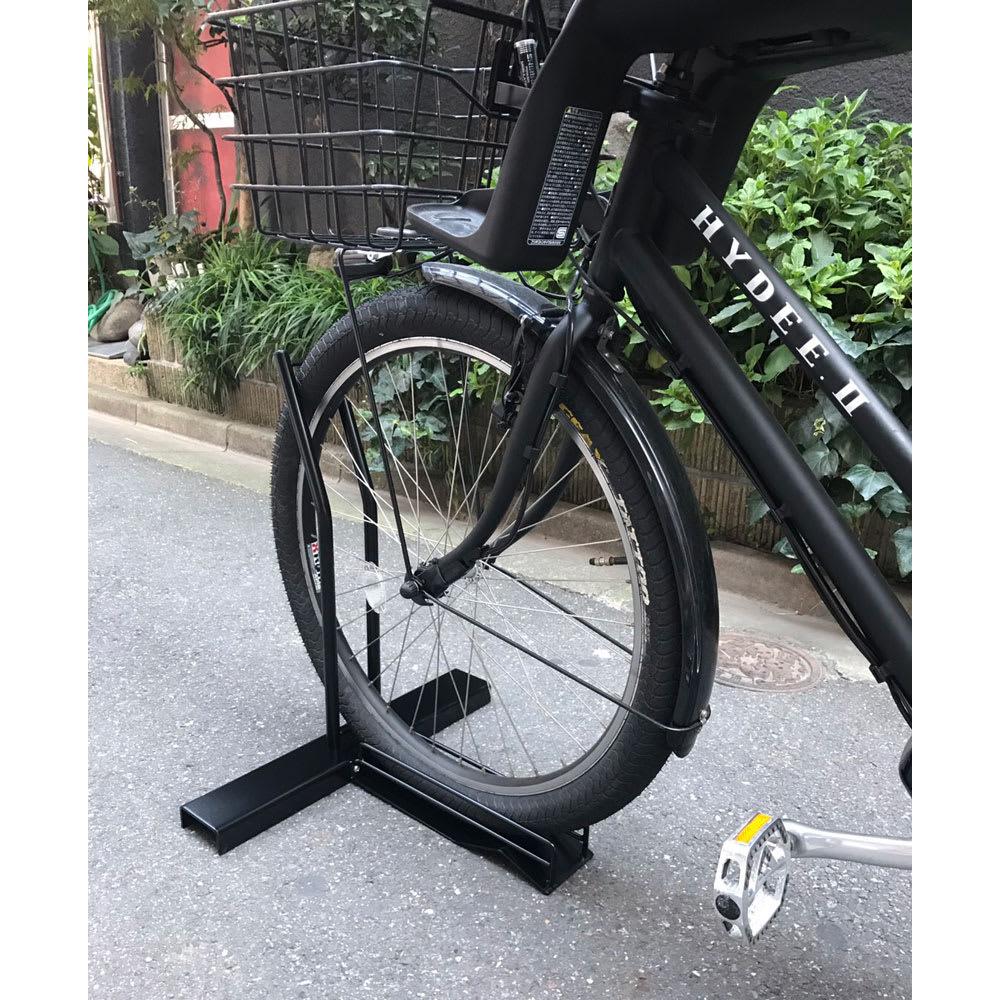 スロープ付き電動自転車スタンド 1台用(電動自転車専用カバー付き)