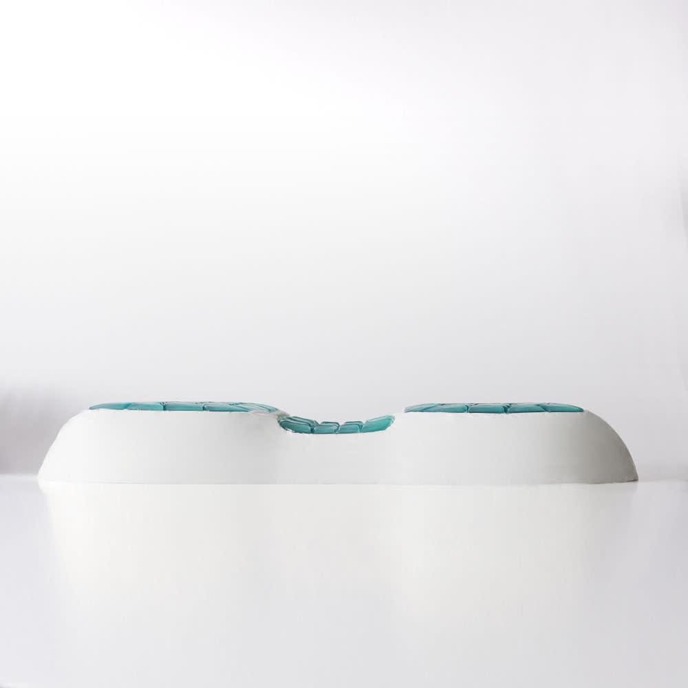 テクノジェル(R) Back & Side ピロー パーフェクトセット 枕単品+プラチナコットン(R) ピローケース2色組 (イ)普通 男性におススメ・身長165cm以上が目安