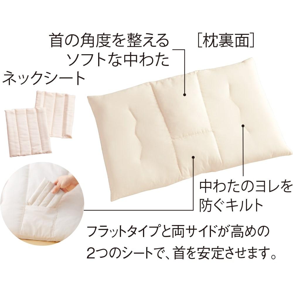 ストレートネックのための枕(カバー付き)