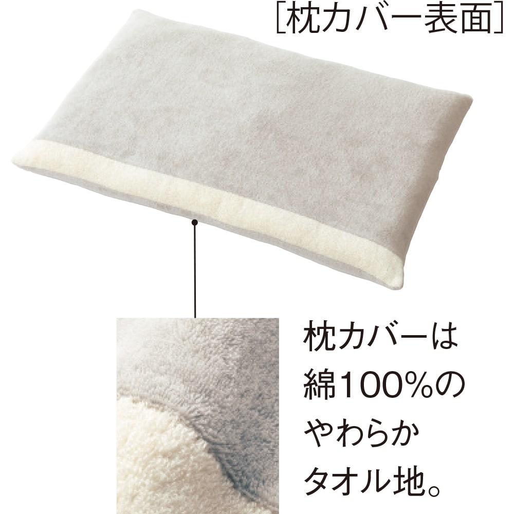 ストレートネックのための枕(カバー付き) 写真は低めタイプです。
