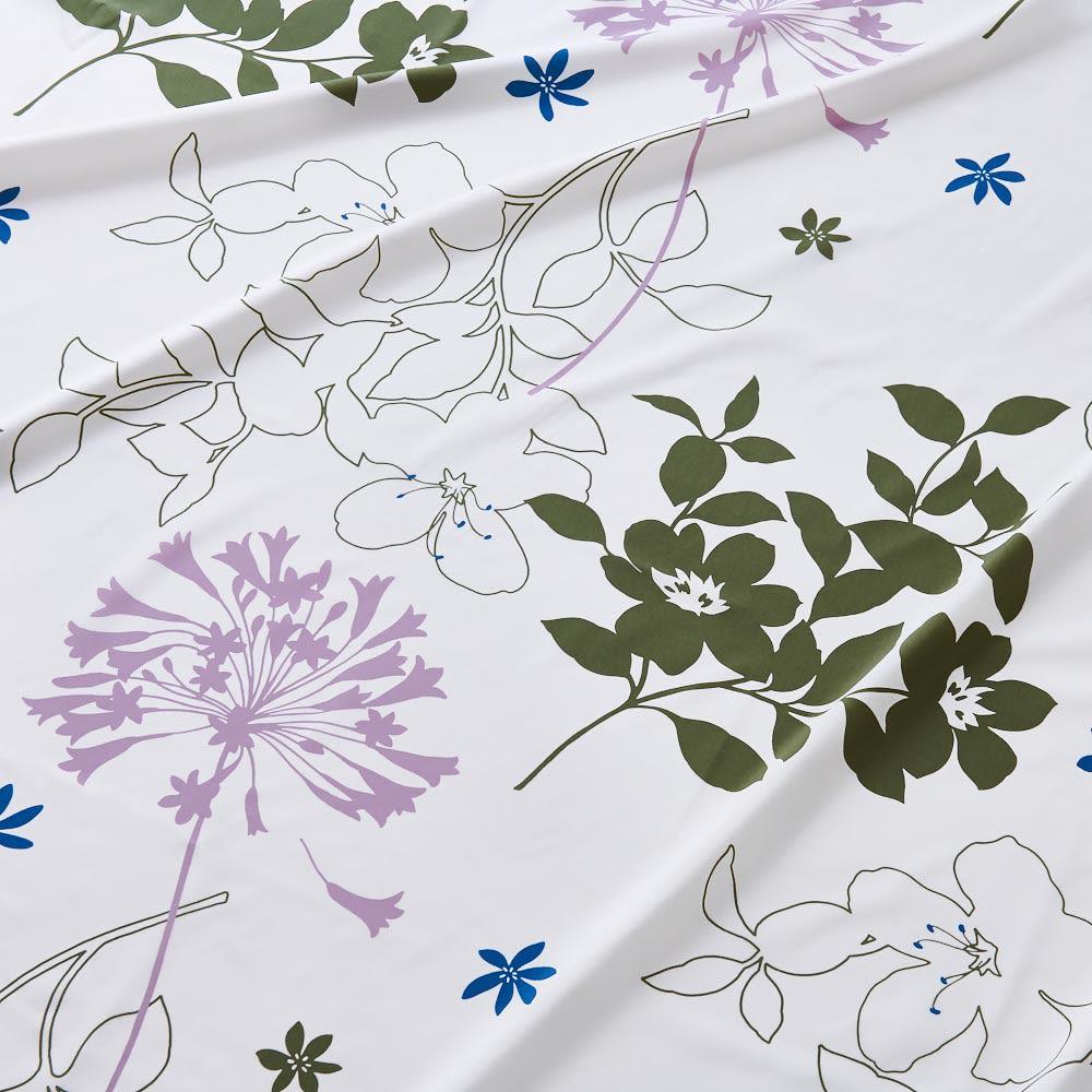 新 軽量&しっかり敷布団シリーズ 敷布団 おしゃれな花柄が新登場! 防ダニの高密度生地に柄をプラス。大人っぽいフラワーモチーフは洋室はもちろん和室にもマッチします。