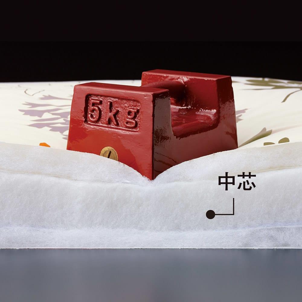 新 軽量&しっかり敷布団シリーズ お得な掛け+敷き+枕セット 腰をしっかり支えるサポート性の高い中芯 中芯のアルファ(R)CVマットが重い腰を強力に支えます。腰部分は細かいキルティングで優しくサポート。