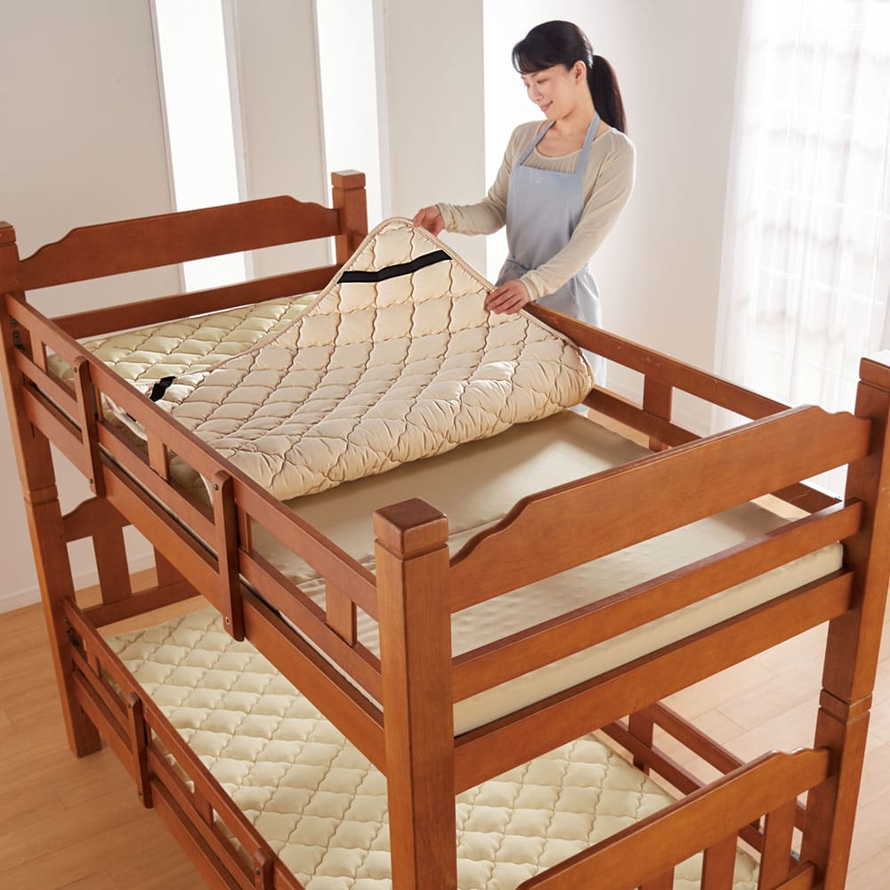 ピタッと収納 4つ折りシステムコンパクトマットレス 上層+下層6cm 上段ベッドにもサッと簡単に。忙しい主婦の味方です。 ※お届けは1点です。