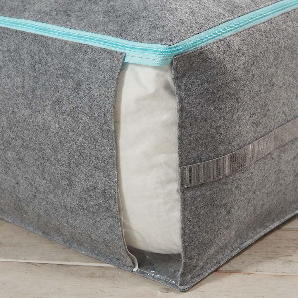吸湿・消臭AirJob(R)布団収納袋 お得な2個組 小 中身が見える透明窓。