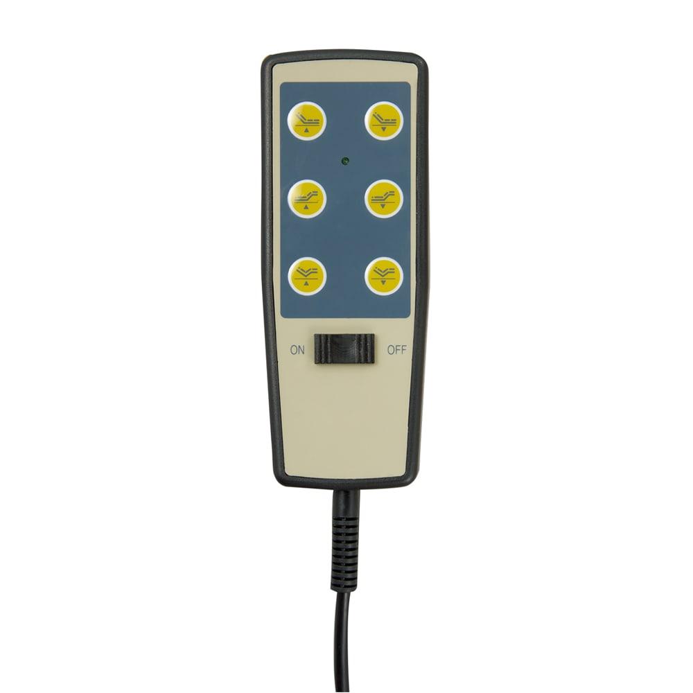 【非課税対象商品】照明付き電動リクライニングベッド リモコンは手元のボタンひとつで簡単に操作できます。