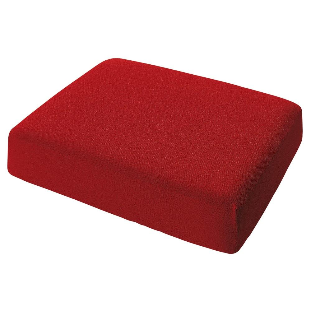 スペイン製カバー[エデン]座面・背もたれ兼用カバー(1枚) (エ)レッド ※写真は1人用サイズです。