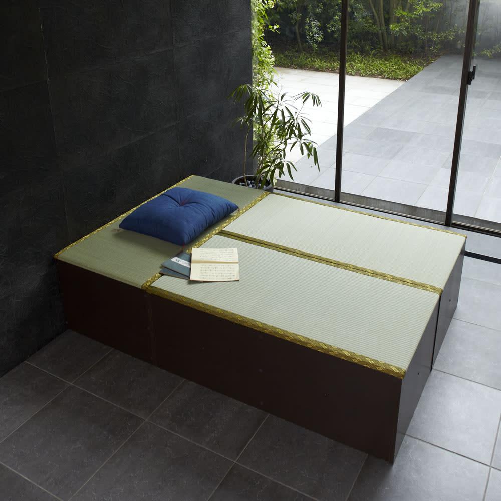 ユニット畳シリーズ お得なセット 3畳セット 幅120奥行180cm 高さ45cm コンパクトなサイズで省スペースにも設置できます。