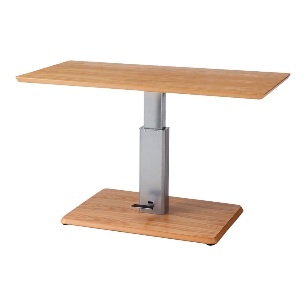 移動がしやすい!キャスター付き昇降式テーブル幅120 ≪高さ70cm時≫