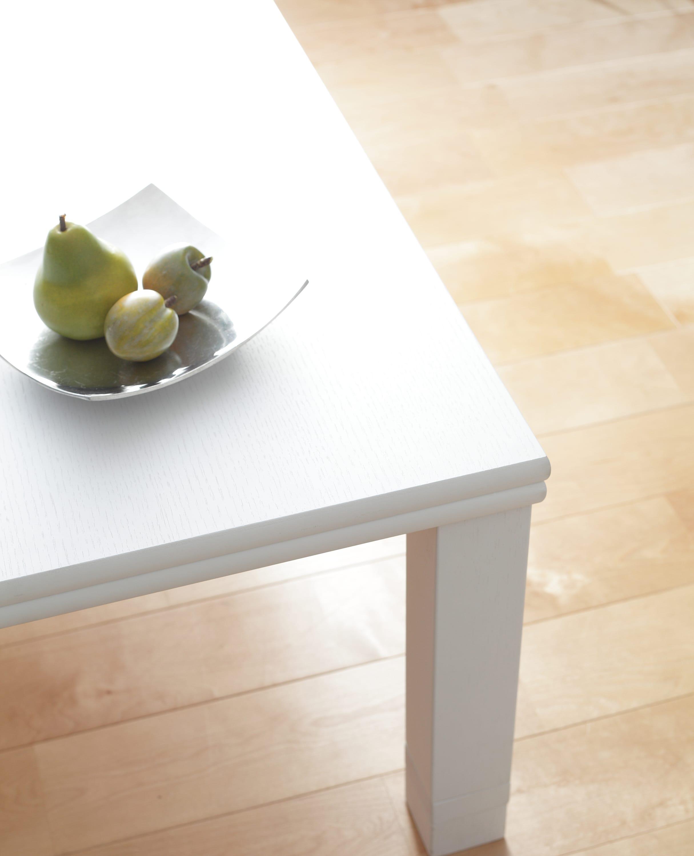 【正方形】80×80cm 4段階高さ調整平面パネルヒーター付きこたつ ホワイトウォッシュ色見本