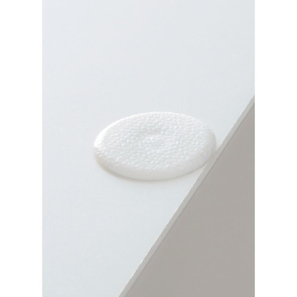 家電が使いやすいハイカウンター奥行45cm キッチンカウンター高さ101cm幅40cm/パモウナVQ-S400KR 下台 カウンタータイプ天板のダボ穴は付属のキャップできれいに隠せます。