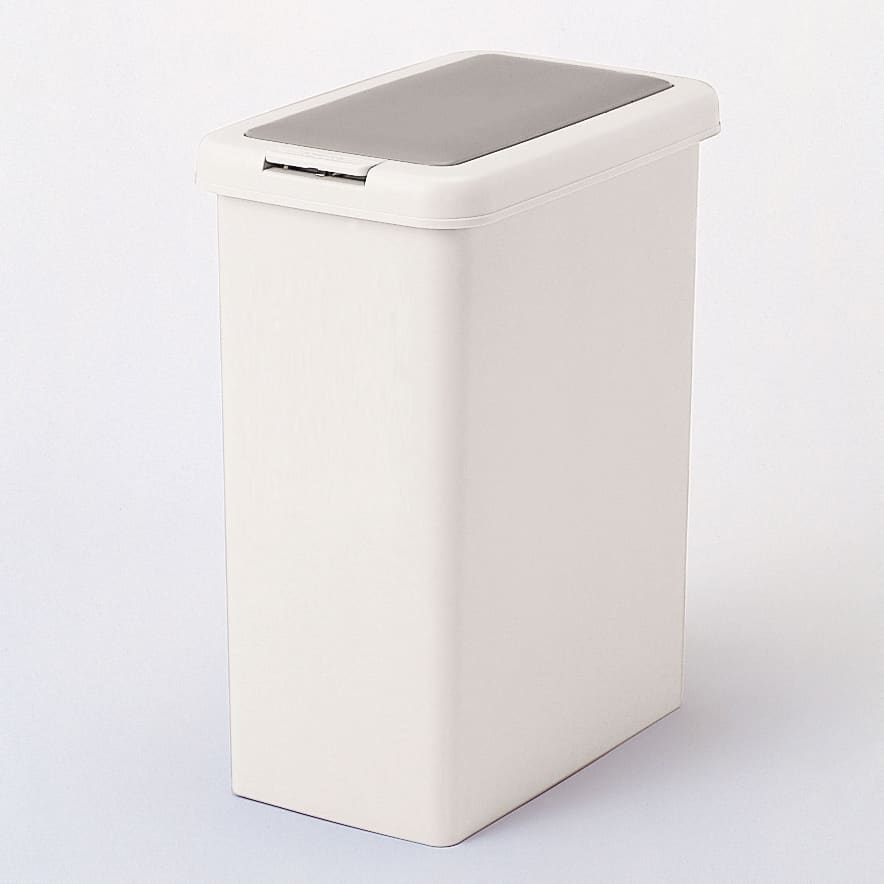 プッシュ式ごみ箱 26.5L (ア)グレー