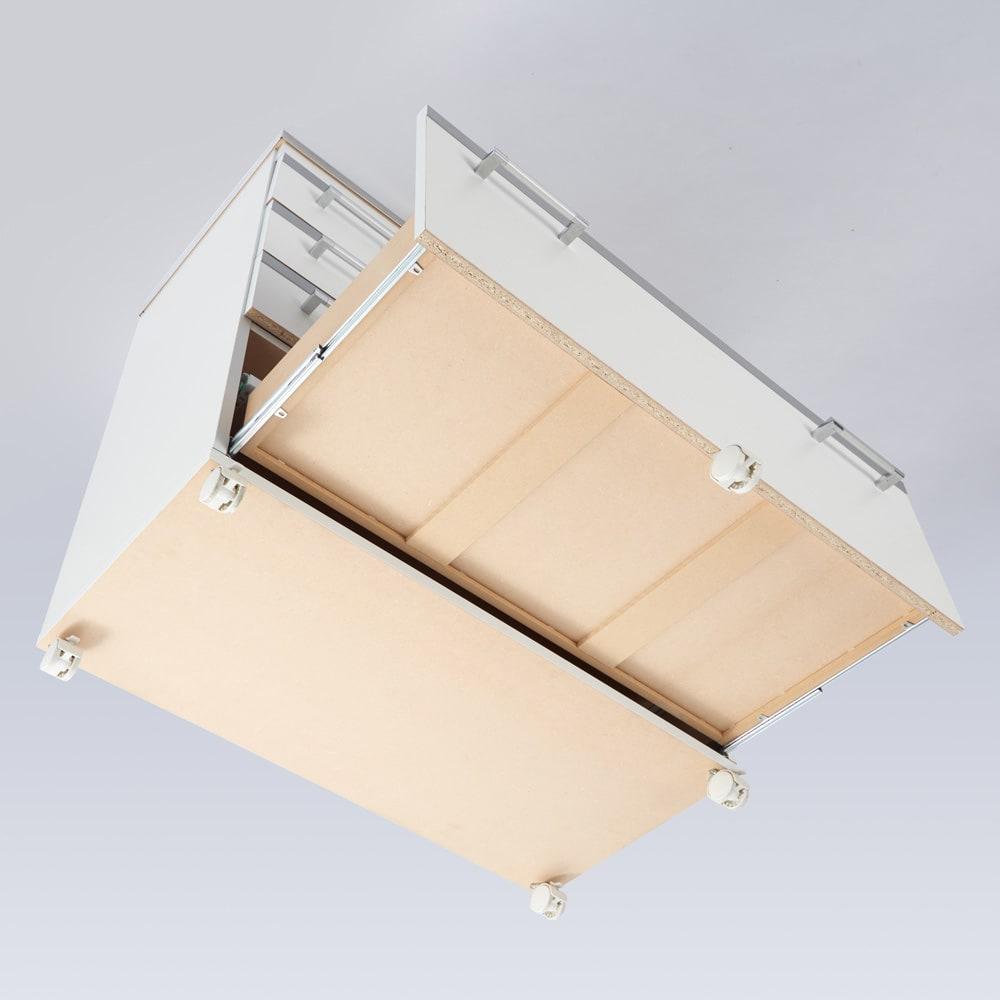 収納しやすいステンレストップカウンター 家電収納タイプ幅118cm