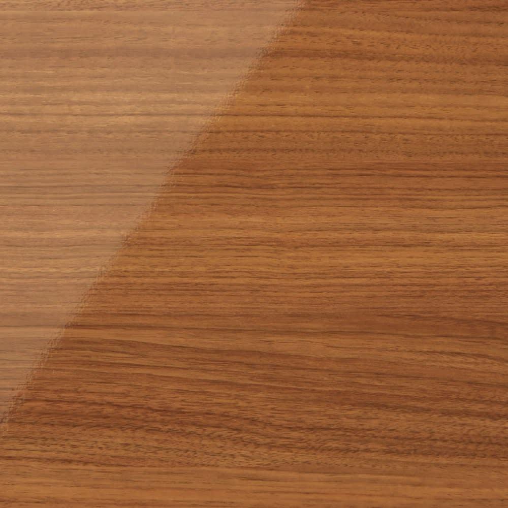 スクエア光沢木目カウンター下収納  1列2マス 幅40cm奥行34cm (イ)ブラウン 華やかな色味の明るい茶色は、お部屋を明るくあたたかな空間へと演出。