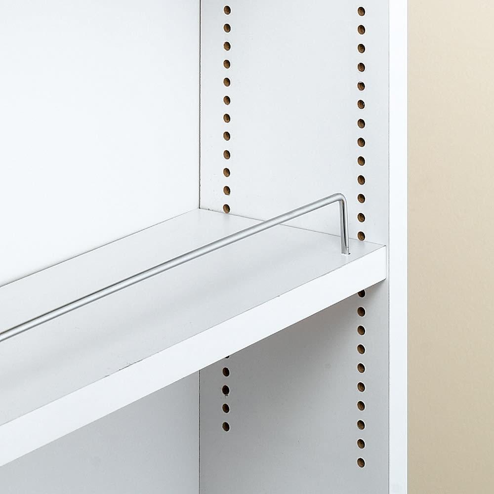 リバーシブル キッチンすき間収納ワゴン 奥行44cmタイプ 幅16cm 収納物に合わせて、可動棚板は1cmピッチで調節可能。