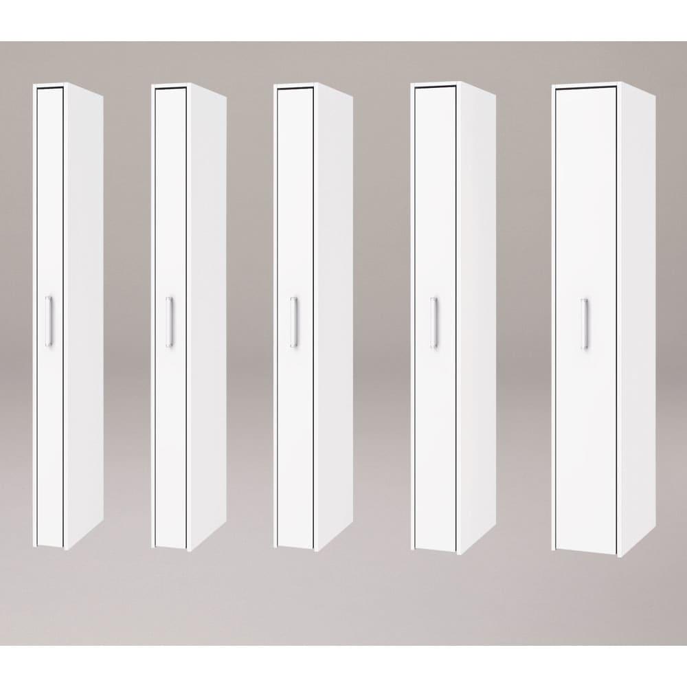 ボックス付きリバーシブル すき間収納庫 幅19奥行58cm シリーズは幅15、17、19、21、29cmの5タイプ 5サイズから選べます。 ※写真は奥行47cmタイプホワイト面使用時です。