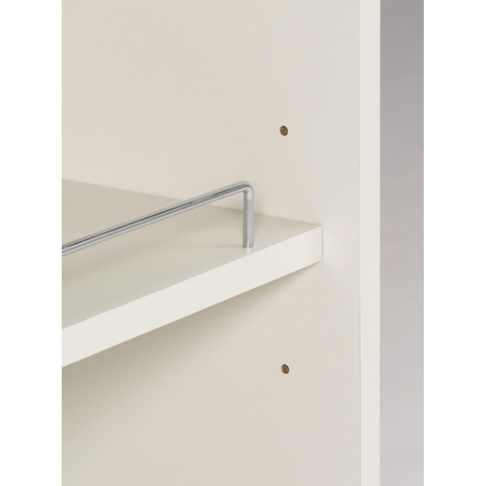 組立不要 ステンレス天板隙間収納 スライドタイプ 幅35cm・奥行55cm 棚板は6cmピッチで可動出来ます。