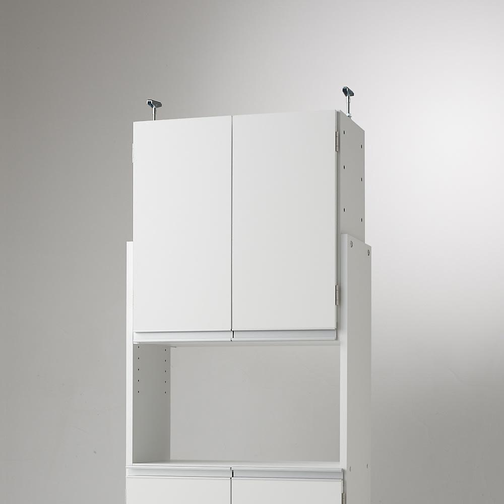 薄型で省スペースキッチン突っ張り収納庫 扉タイプ 幅45cm・奥行19cm