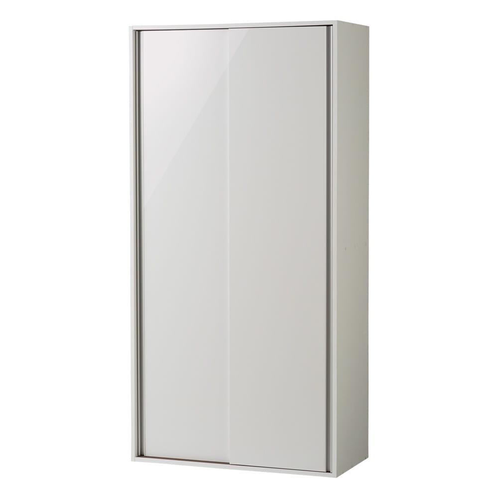 頑丈引き戸キッチンストッカー 幅91cm (ア)ホワイト