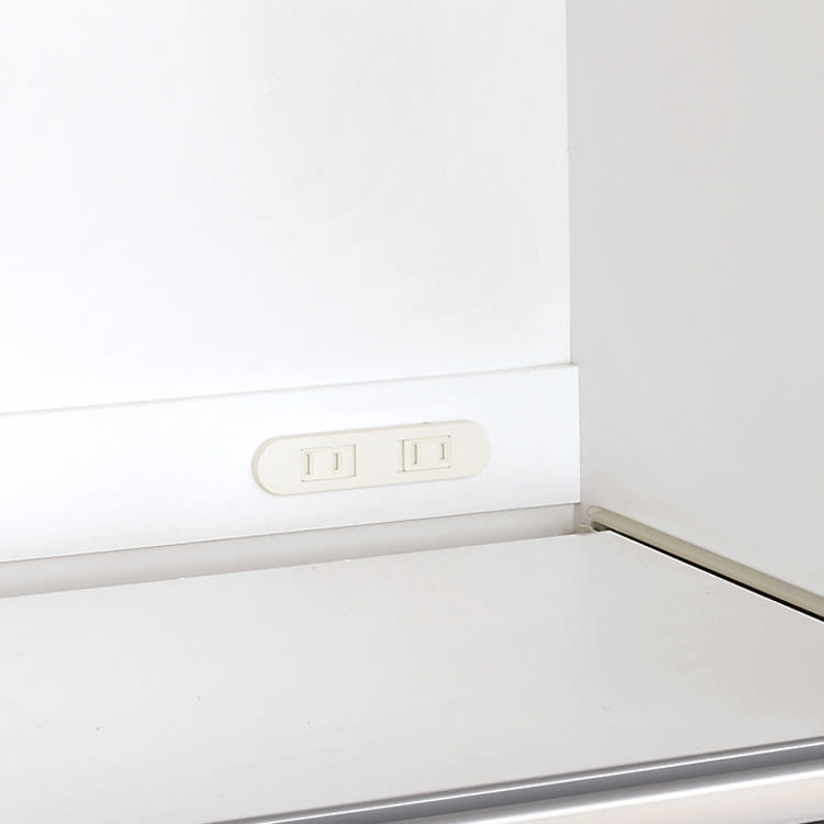 家電が隠せる!シンプル家電収納ストッカー 高さ102cm 便利な2口コンセント(計1500W)付き。