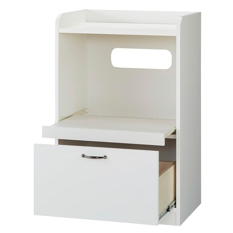 キッチン収納ミニ食器棚シリーズ レンジ台小(高さ90.5cm) (イ)ホワイト