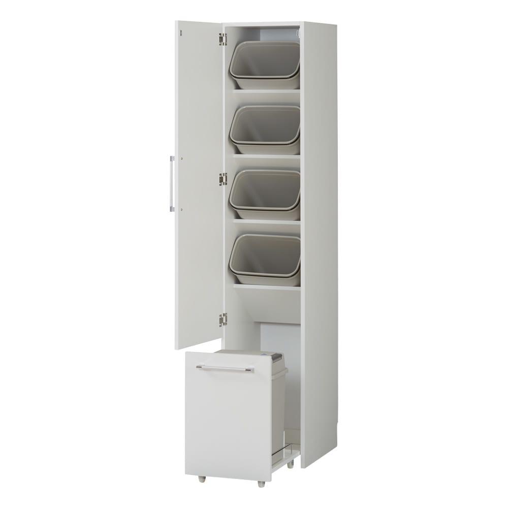 組立不要 キッチン分別タワーダストボックス 5分別 ゴミ箱タイプ (ア)ホワイト