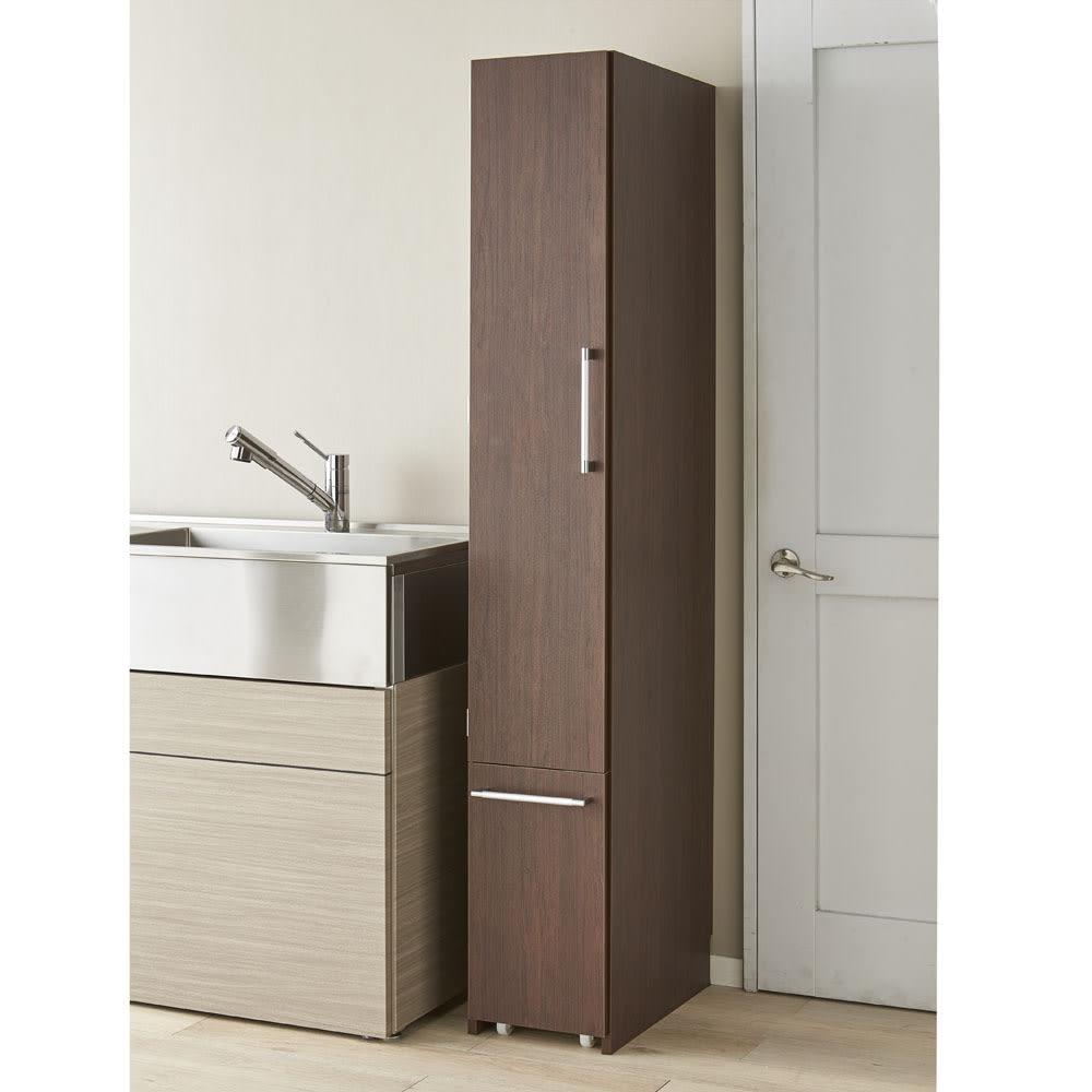 組立不要 キッチン分別タワーダストボックス 幅28.5cm スリム4分別 ゴミ箱タイプ (イ)ダークブラウン 幅28.5cmのスリムタイプです。
