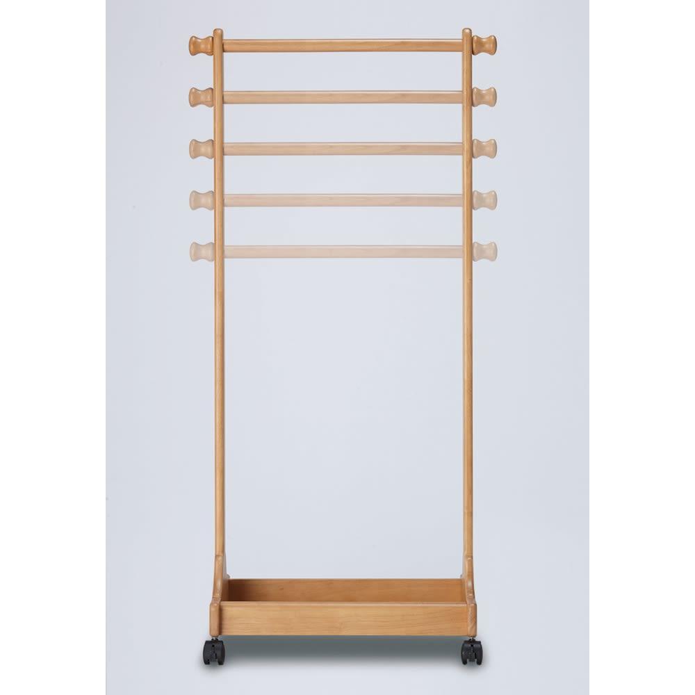 家具 収納 子供部屋 ベビー用品 天然木キッズハンガー ラック 510426