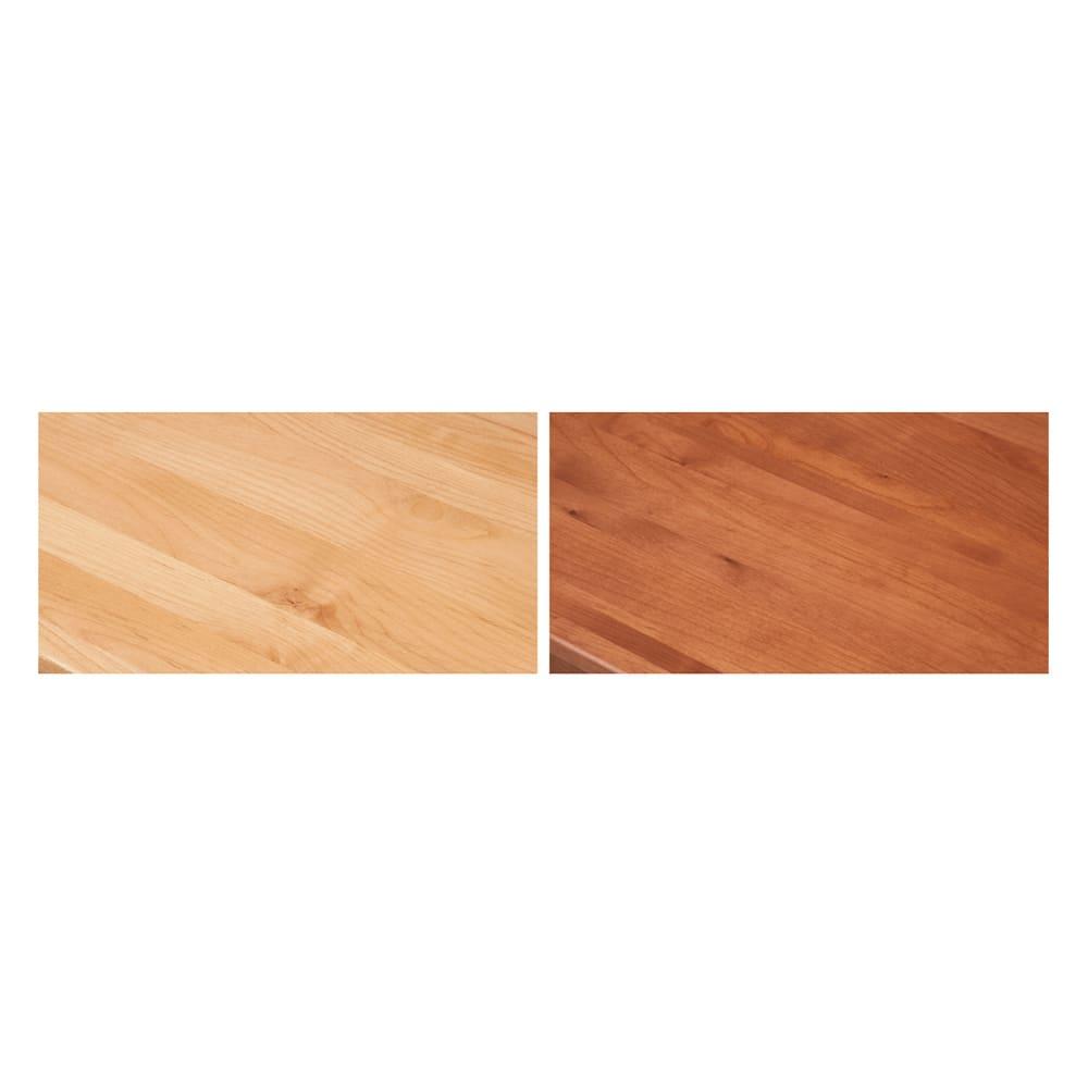 配線すっきり北欧頑丈デスクシリーズ デスク・幅155cm 木目が美しいアルダー天然木を使用。あたたかみのある北欧風の素材感も魅力。 ※左から(ア)ナチュラル(イ)ブラウン