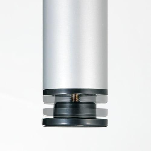 突っ張り式高さ調節シリーズ 伸長デスクラック 幅118cm 脚部アジャスターで微調整してさらに安定。