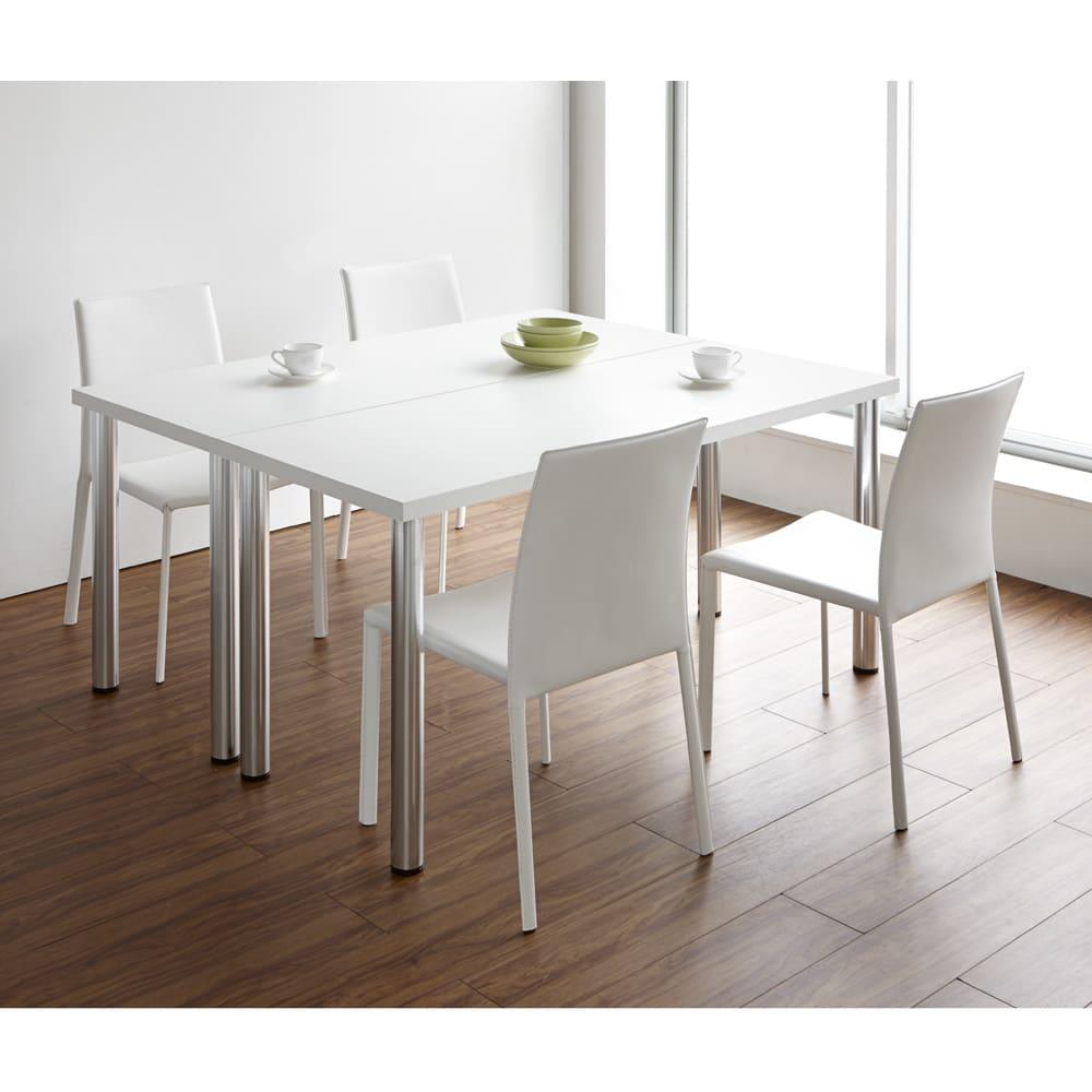 シンプルワークデスク 幅120奥行45cm ダイニングテーブルとしても。(イ)ホワイト