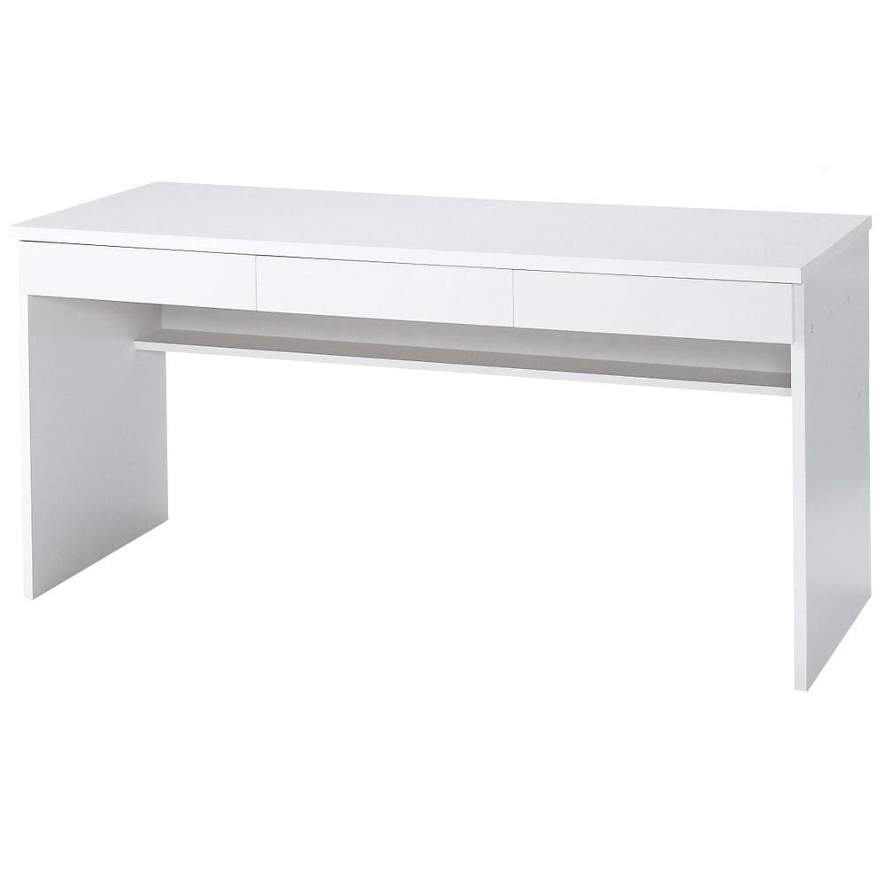 引き出し付き 光沢仕上げアーバンデスクシリーズ デスク 幅150cm (ア)ホワイト
