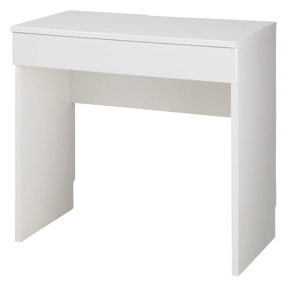テレワークにも最適 ラインスタイルハイタイプテレビ台シリーズ デスク・幅75cm (イ)ホワイト