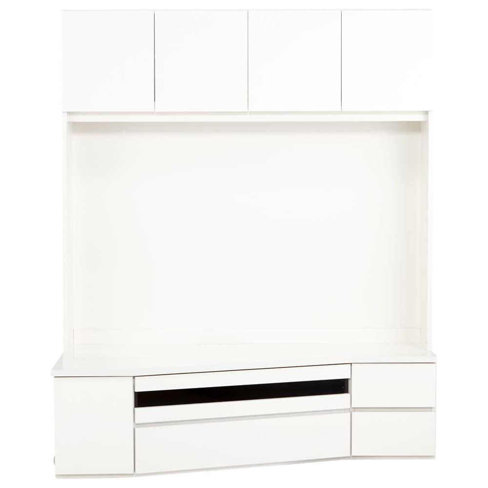 コーナーテレビ台壁面収納シリーズ 幅150cmTV台左壁設置用 (ア)ホワイト 正面から