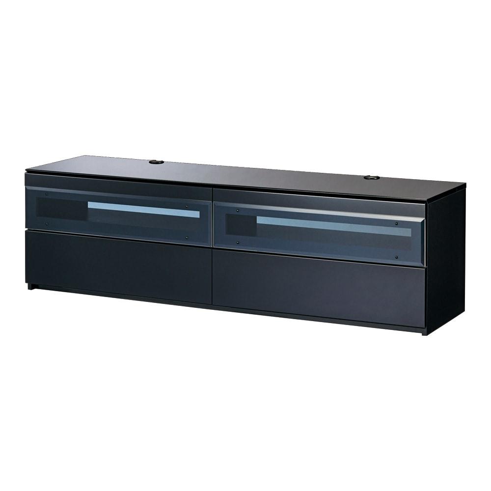 パモウナBW-160 輝く光沢のモダンリビングシリーズ テレビ台 幅160cm (イ)ブラック テレビ台160cmタイプ