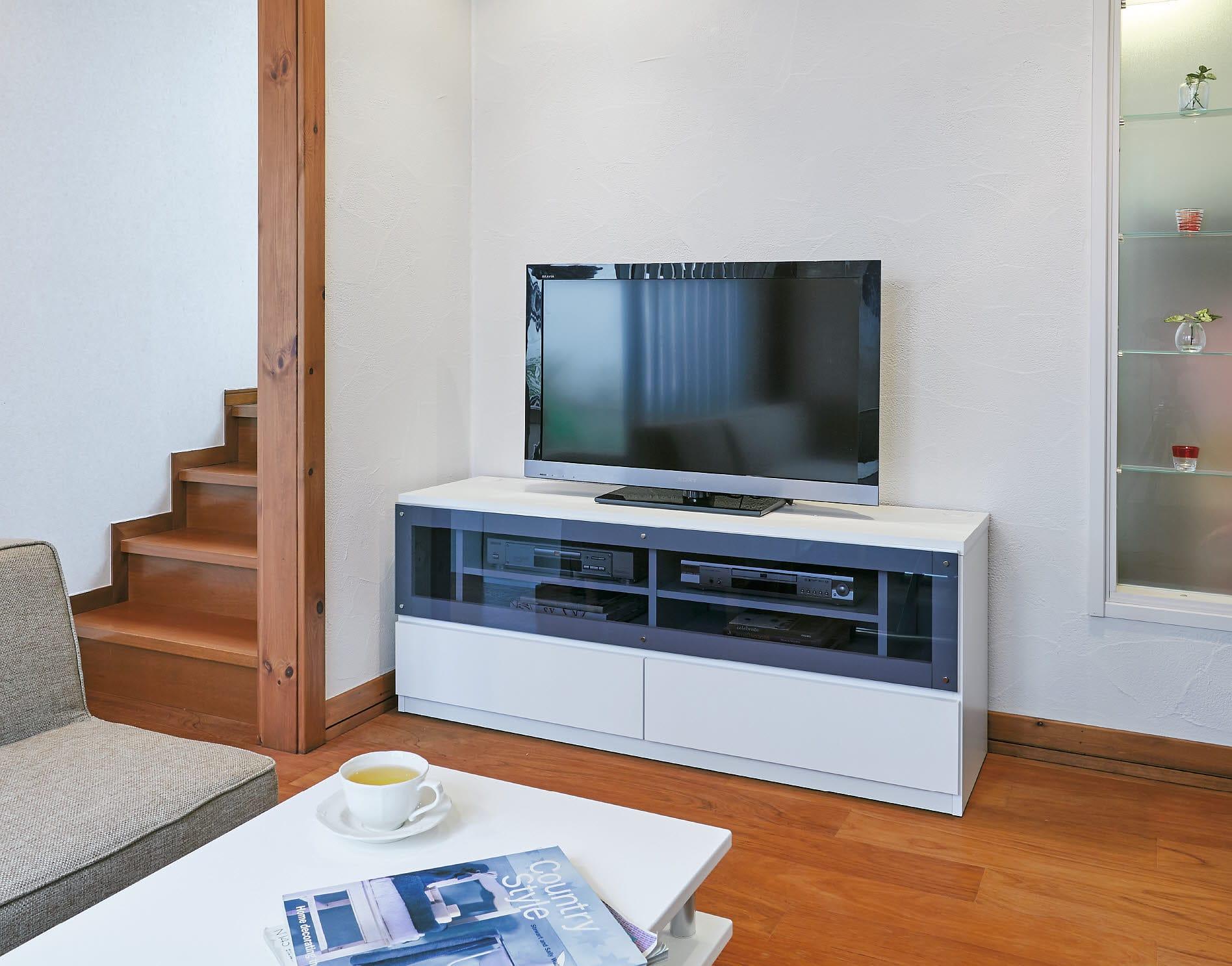 ソファや椅子からも見やすい高さ60cmの テレビ台 幅150cm
