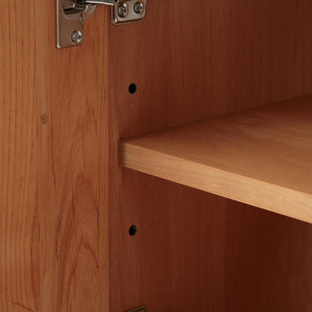 【ローチェスト】ソファダイニングから見やすいリビングボードシリーズ 扉チェスト 幅90cm 扉内部には可動棚板が1枚付いています。