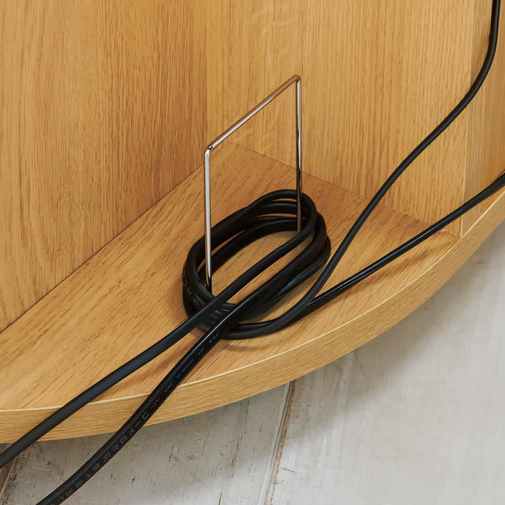 角度が自由自在の収納充実コーナーテレビ台 幅100高さ50cm 背面にコード収納スペース付き。