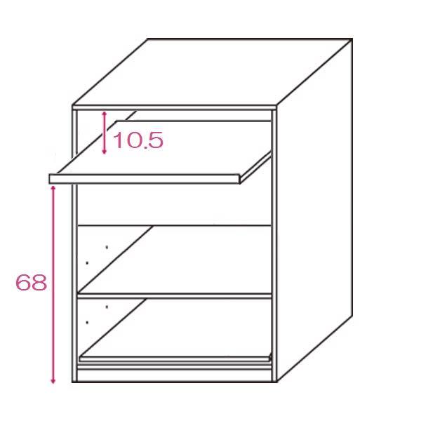 テレワークにも最適 北欧スタイルリビング収納シリーズ PCキャビネット幅60cm 内寸図(単位cm)