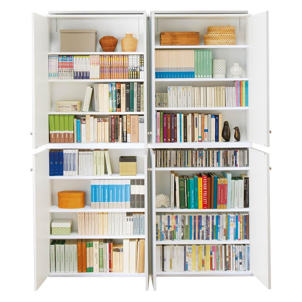 天井対応高さを選べるすっきり突っ張り書棚 奥行22cm・1列棚タイプ 本体高さ230cm(天井対応高さ233~243cm) 【奥行22cmタイプ】お手持ちの本やコミック、CDに合わせ可動棚板は1.5cmピッチで調整可能。