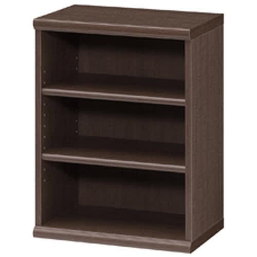 色とサイズが選べるオープン本棚 幅44.5cm高さ60cm (エ)ダークブラウン