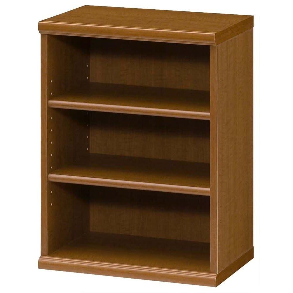 色とサイズが選べるオープン本棚 幅44.5cm高さ60cm (ウ)ブラウン
